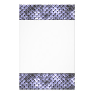 Scaly Gray Snakeskin Stationery