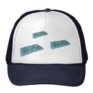 Scam as Sc Scandium and Am Americium Mesh Hat