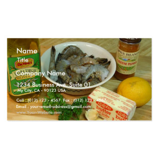Scampi On Table Double-Sided Standard Business Cards (Pack Of 100)