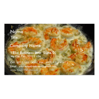 Scampi Served Double-Sided Standard Business Cards (Pack Of 100)