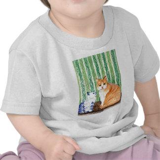 Scampy con el azul cat-1 jpg de los delfts camiseta