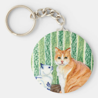 Scampy with delfts blue cat-1.jpg keychain