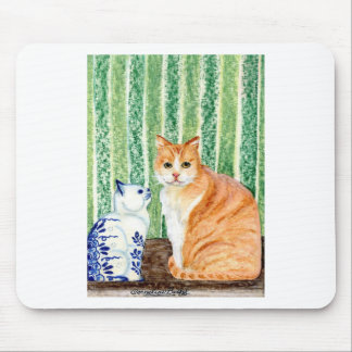 Scampy with delfts blue cat-1.jpg mouse pad