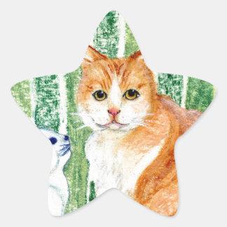 Scampy with delfts blue cat-1.jpg star sticker