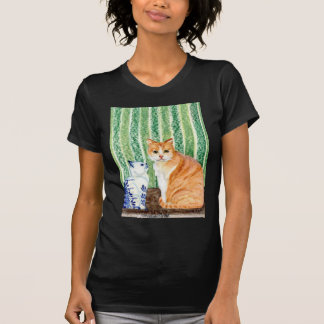 Scampy with delfts blue cat-1.jpg T-Shirt