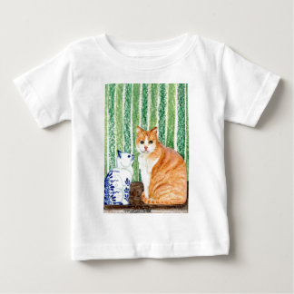 Scampy with delfts blue cat-1.jpg tee shirt