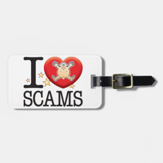 Scams Love Man Bag Tags