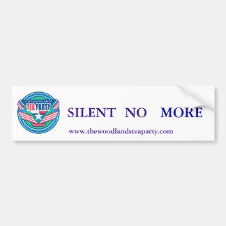 scan0002, NO, SILENT, MORE, www.thewoodlandstea... Bumper Sticker