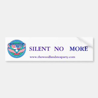 scan0002, NO, SILENT, MORE, www.thewoodlandstea... Car Bumper Sticker