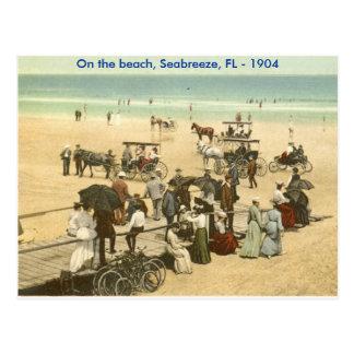 scan0002, On the beach, Seabreeze, FL - 1904 Postcard