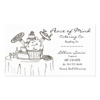 scan0003, Peace of Mind, Catering Co., Lillian ... Business Cards