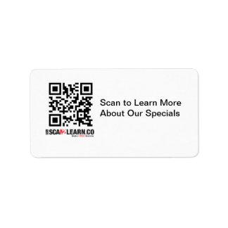 Scan2Learn Etiquetas De Dirección