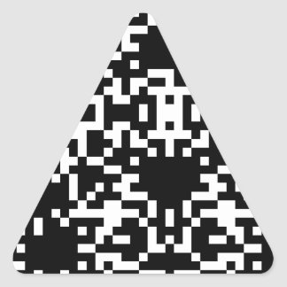 Scan Code Triangle Sticker