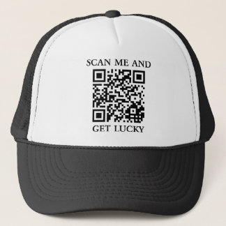 Scan Me And Get Lucky Trucker Hat