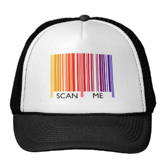 Scan Me Colorful Barcode Trucker Hat