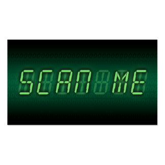 SCAN ME : digital readout Double-Sided Standard Business Cards (Pack Of 100)