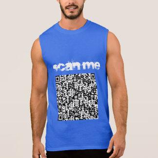 """Scan Me"" Men's sleevelss T-shirt (Royal Blue)"
