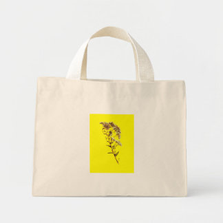 Scan of a florida wildflower w yellow background tote bags