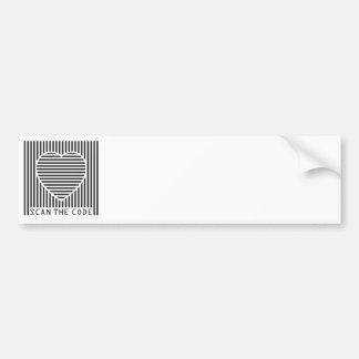 scan the love code bumper sticker