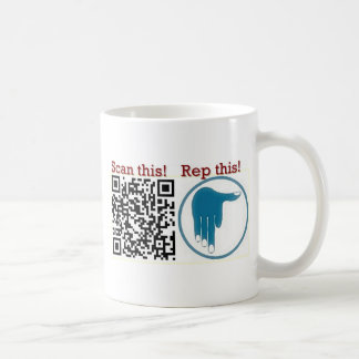 Scan this,rep this coffee mug