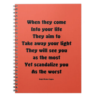 Scandalize you as the worst spiral notebook