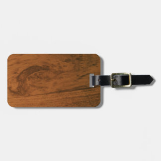 Scandi Rosewood Luggage Tag w/ leather strap