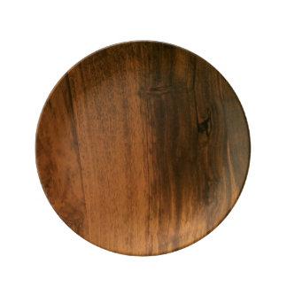 Scandi Rosewood Porcelain Plate