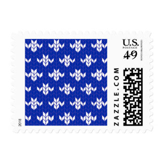 Scandia Blue Knit 1st Class 1oz Postage Stamps