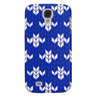 Scandia Blue Knit Samsung GalaxyS4 Case