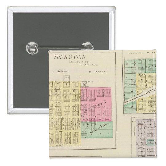 Scandia, Mystic, White Rock, Ida, Cuba, Kansas Button