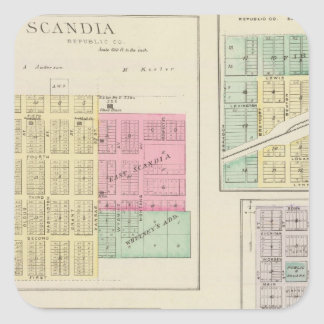 Scandia, Mystic, White Rock, Ida, Cuba, Kansas Square Sticker
