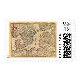 Scandinavia, Baltic Sea, Sweden, Denmark Stamp