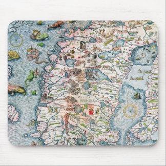 Scandinavia, detail from the Carta Marina Mouse Pads