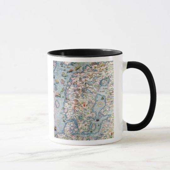Scandinavia, detail from the Carta Marina Mug