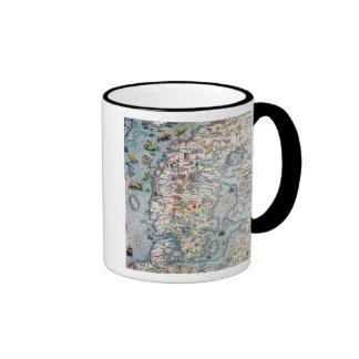 Scandinavia, detail from the Carta Marina Coffee Mugs