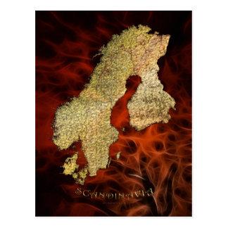 Scandinavia Map Postcards