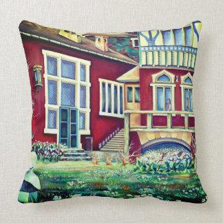 Scandinavia  - realism landscape throw pillow