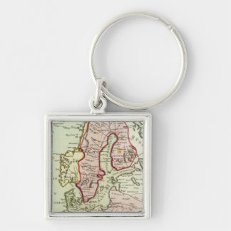 Scandinavia, Sweden, Denmark Keychain