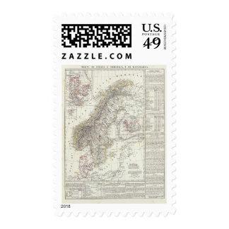 Scandinavia, Sweden, Norway Stamp