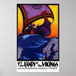Scandinavia Vintage Travel Poster Restored