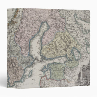 Scandinavian Antique Map 3 Ring Binder