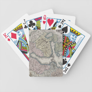 Scandinavian Antique Map Bicycle Playing Cards