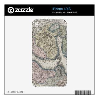 Scandinavian Antique Map iPhone 4 Skin