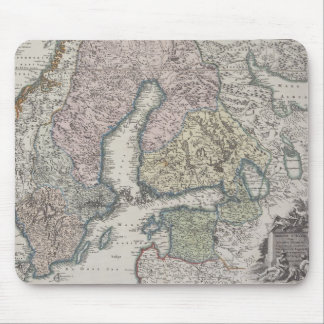 Scandinavian Antique Map Mouse Pad