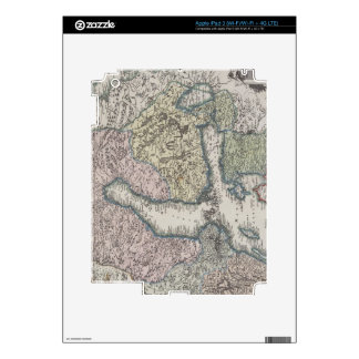 Scandinavian Antique Map Decal For iPad 3