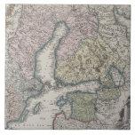 Scandinavian Antique Map Tiles