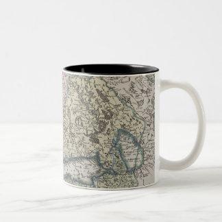 Scandinavian Antique Map Two-Tone Coffee Mug