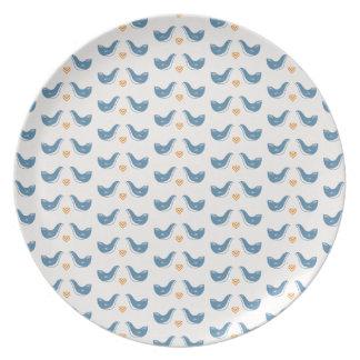 Scandinavian Birds in the Garden Theme Plate