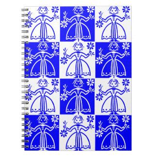 Scandinavian Blue Finn Nordic Girl Notebook Diary