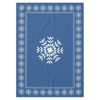 High Quality Scandinavian Blue Snowflake Pattern Tablecloth
